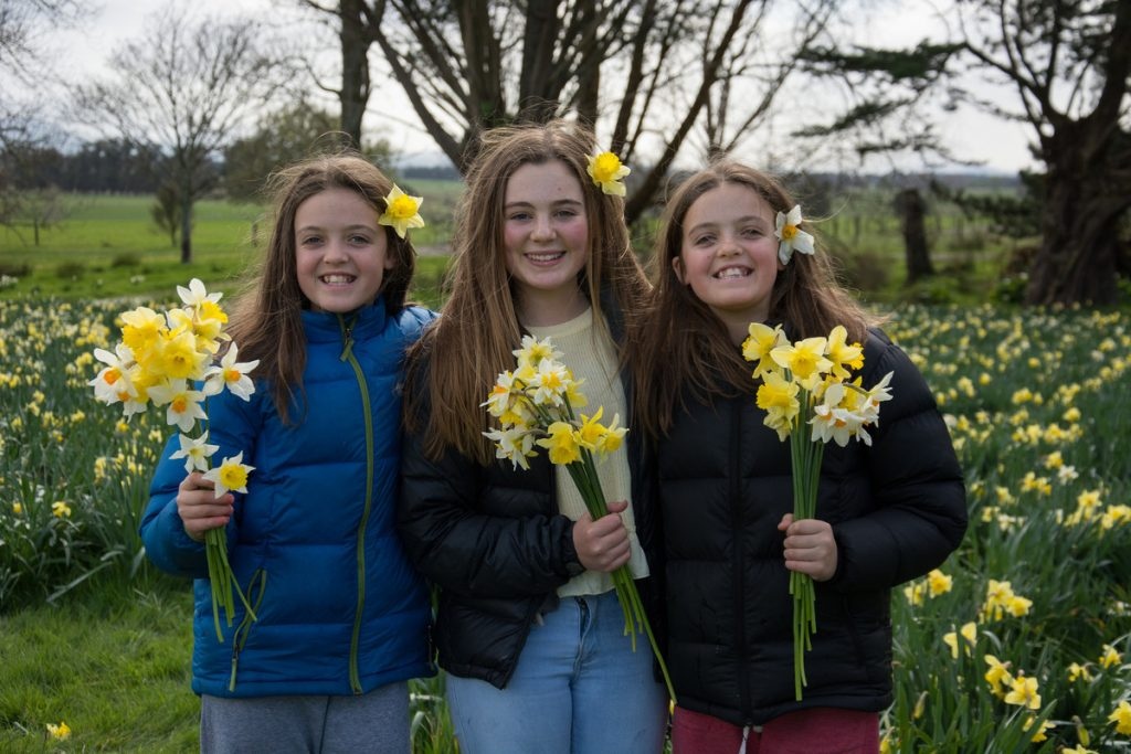 Hannah Yardley, 12, Jemma Piper, 13, and Georgina Yardley, 12, from Wellington. PHOTO/JADE CVETKOV