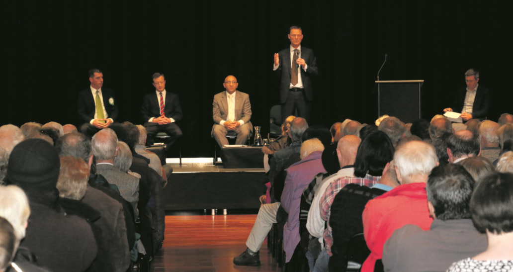 Debate draws lively audience