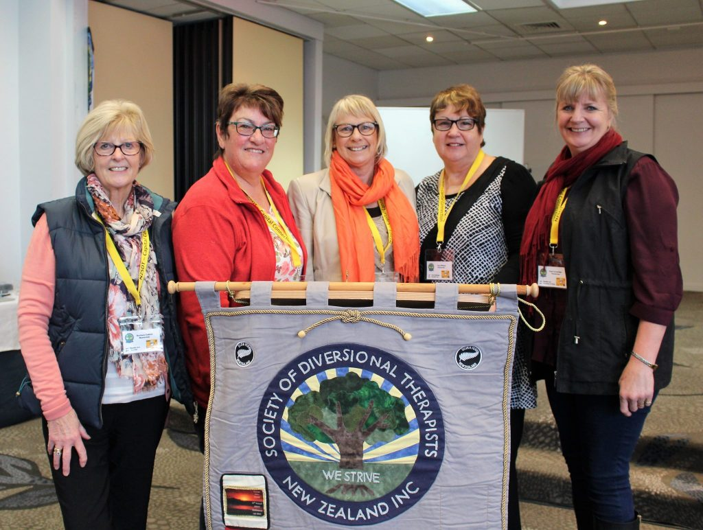 Wairarapa diversional therapists at conference.  PHOTO/SUPPLIED