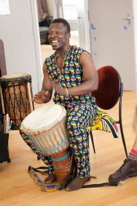 West African drumming and dance teacher Koffie Fugah says everyone has rhythm. PHOTO/SUPPLIED
