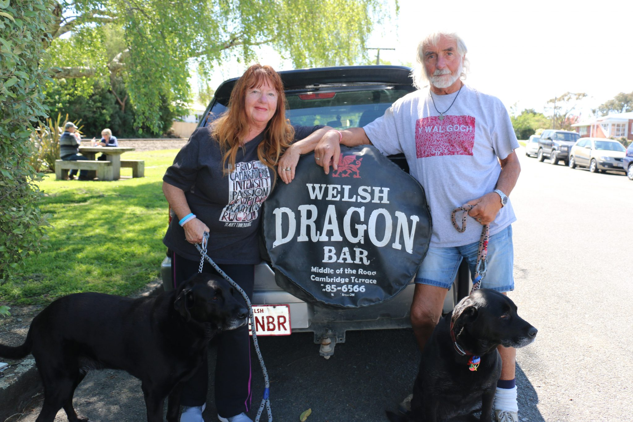 The South Wairarapa couple own the Welsh Dragon Bar in Wellington city. PHOTO/HAYLEY GASTMEIER