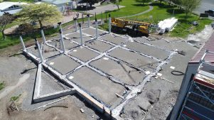 The Waihinga Centre will be a multi-purpose facility. PHOTOS/WAIRARAPA AERIAL IMAGING
