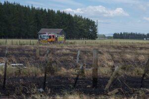 The scorched paddock, along SH2, just south of Greytown. PHOTO/JADE CVETKOV