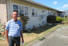 Garry Jackson outside his house on Princess St in Martinborough. PHOTO/JAKE BELESKI