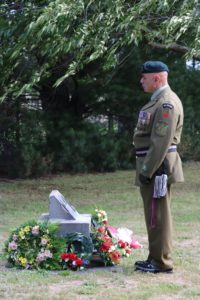 Warrant Officer Class 1 Pete Albrett, of Masterton, takes a quiet moment at the Japanese Memorial. PHOTO/HAYLEY GASTMEIER