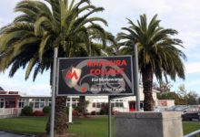 Makoura College sign and school frontage, Masterton.
