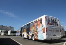 Rotary mobile health clinic bus. PHOTO/EMILY IRELAND