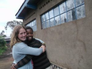 Kim Aperloo with her friend Alysse at an orphanage on a previous trip. PHOTO/SUPPLIED