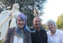 Elaine Hurndell, with Masterton District Council Deputy Mayor Graham McClymont, and Mayor Lyn Patterson. PHOTO/EMILY IRELAND