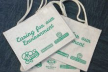 Eco bag exchange set up for Masterton shoppers