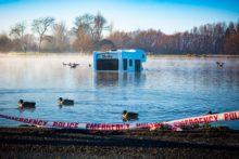 Campervan lands in Henley Lake