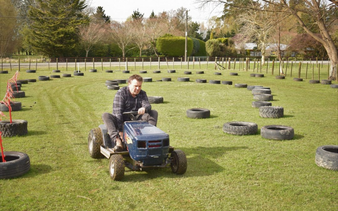 Lawn mower race all for a good cause