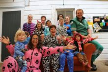 Onesies out with wallets for a day