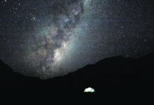 Winter camping under the milky way on a clear moonless night, Wairarapa, NZ. PHOTO/GETTY IMAGES