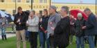 Scores attend vigil for murder victim