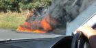 Car fire closes Remutaka Hill Rd