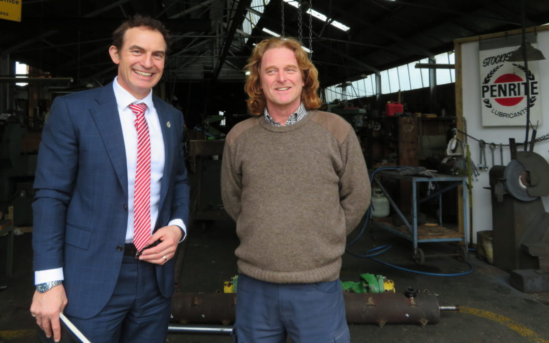 Minister gets earful from a Masterton small business
