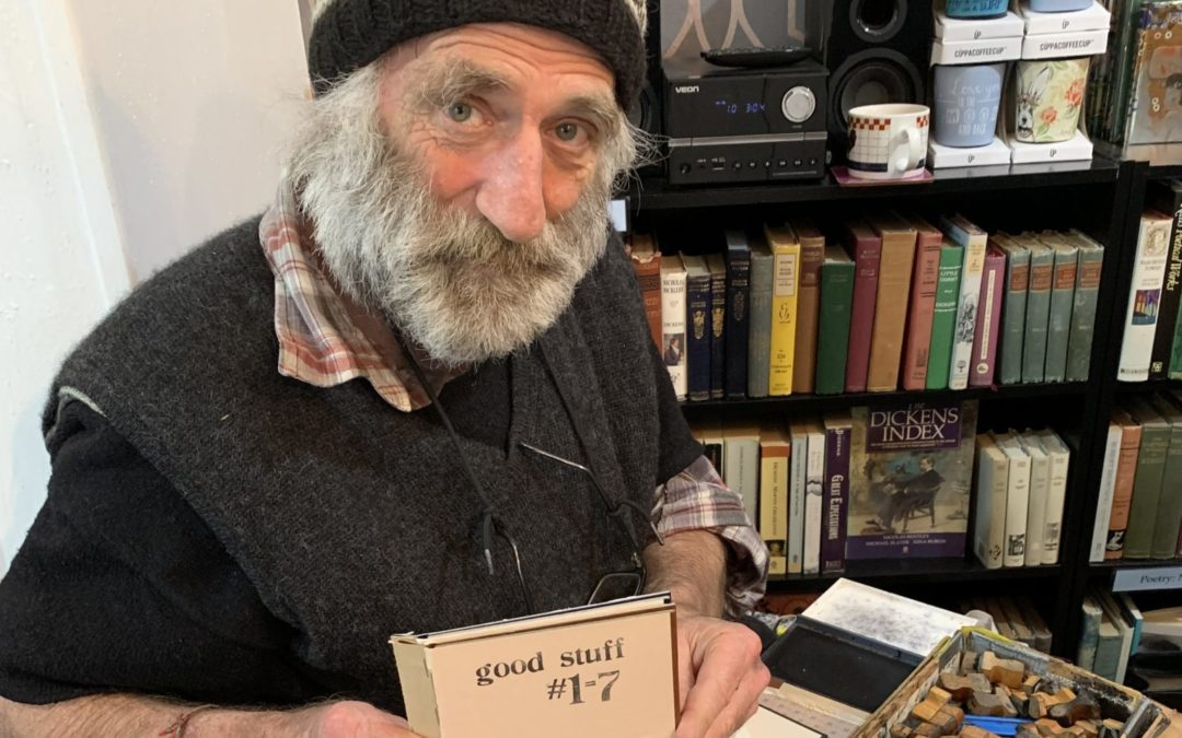 Crafty poet sharing words for National Poetry Day