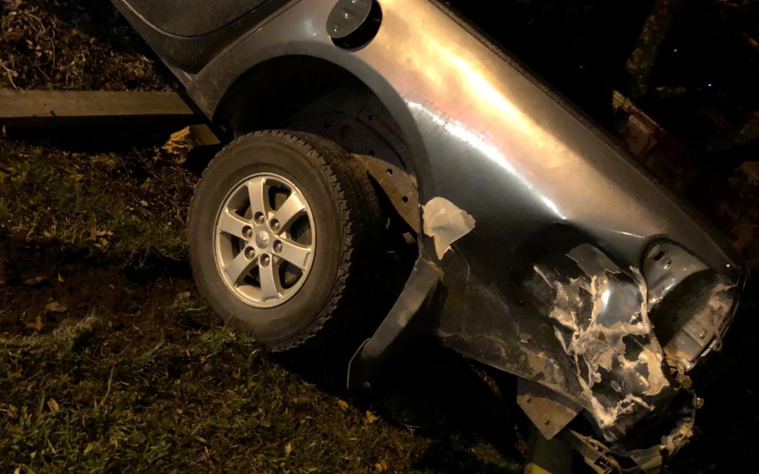 Hit and run: Ute forced off road