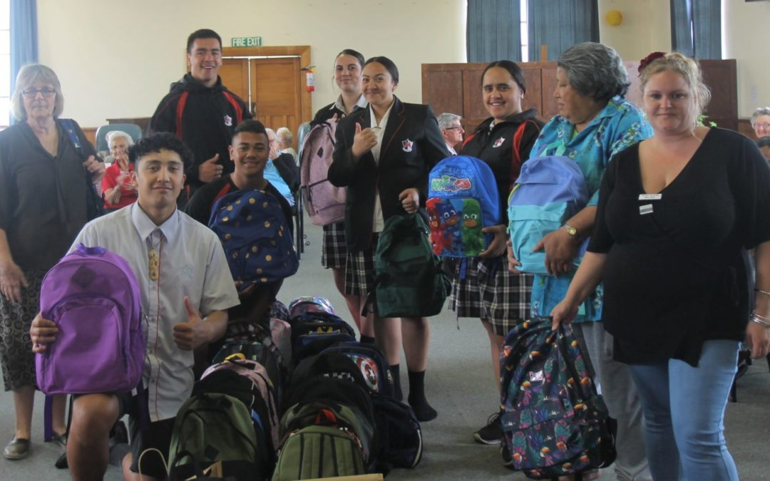 57 schoolbags for Samoa