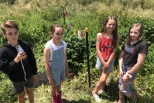 Students up the creek for project