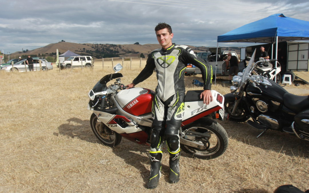Rider survives 160kmh crash