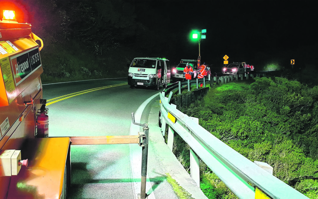 40 days of work done in one night on hill road