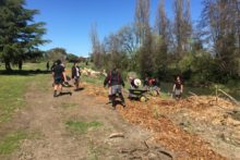 Students planting ideas of environmental careers