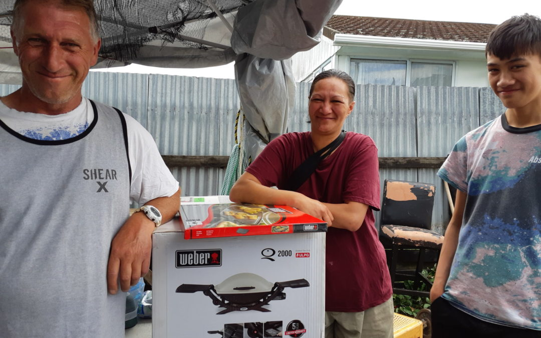 New BBQ for fire victims