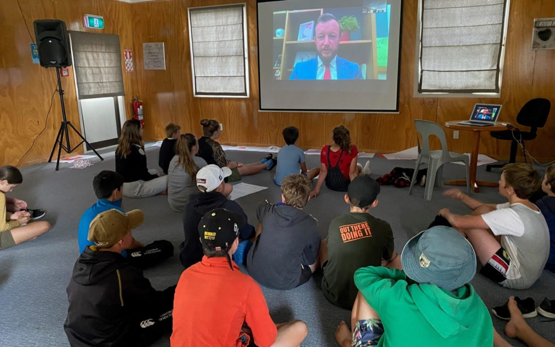 Rural school campers take notes from leaders