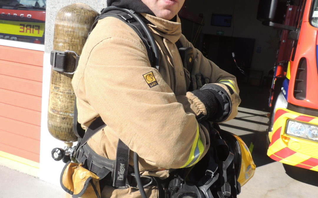 Firefighter rises to the challenge